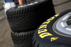 Dunlop tyres in the pitlane