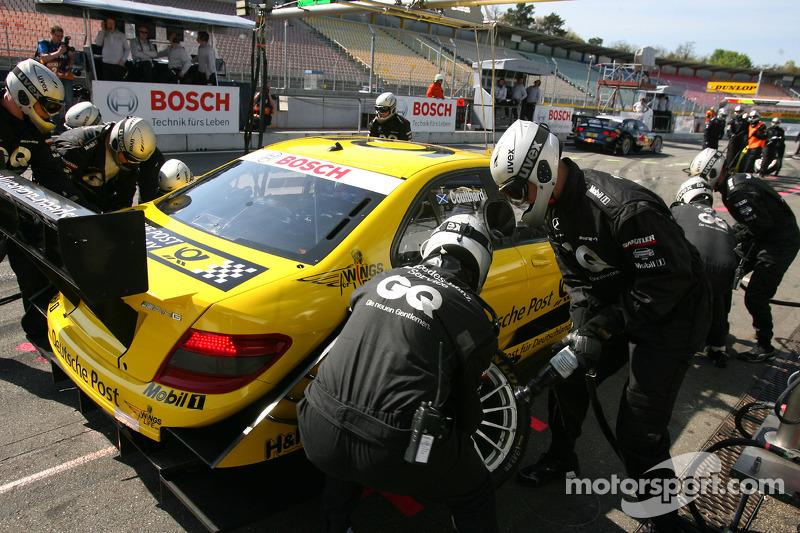 Pitstop David Coulthard, Mücke Motorsport, AMG Mercedes C-Klasse