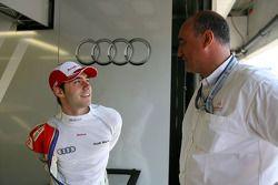 Miguel Molina, Audi Sport Rookie Team Abt, en discussion avec Jaime Puig, Directeur du Sport automobile Seat