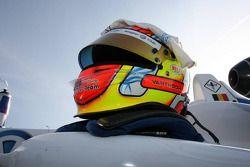 Helmet of Laurens Vanthoor, Signature, Dallara F308 Volkswagen