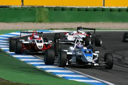 Edoardo Mortara, Signature, Dallara F308 Volkswagen, leads Valtteri Bottas, ART Grand Prix, Dallara