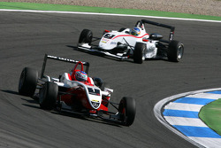 Valtteri Bottas, ART Grand Prix, Dallara F308 Mercedes, leads Roberto Merhi, Mücke Motorsport, Dalla