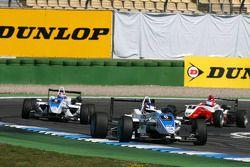 Marco Wittmann, Signature, Dallara F308 Volkswagen, leads Edoardo Mortara, Signature, Dallara F308 V