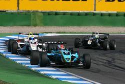 Daniel Juncadella, Prema Powerteam, Dallara F308 Mercedes, leads Carlos Munoz, Mücke Motorsport, Dal