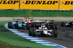 Carlos Munoz, Mücke Motorsport, Dallara F308 Mercedes, leads Daniel Juncadella, Prema Powerteam, Dallara F308 Mercedes, Jim Pla, ART Grand Prix, Dallara F308 Mercedes, Antonio Felix da Costa, Motopark Academy, Dallara F308 Volkswagen
