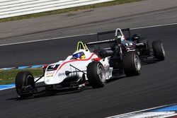 Carlos Munoz, Mücke Motorsport, Dallara F308 Mercedes leading Antonio Felix da Costa, Motopark Acade