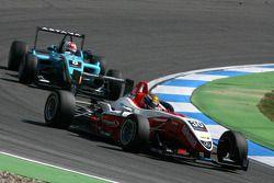 Esteban Gutierrez, ART Grand Prix, Dallara F308 Mercedes, leads Daniel Juncadella, Prema Powerteam, Dallara F308 Mercedes