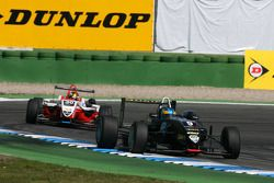 Adrian Quaife-Hobbs, Motopark Academy, Dallara F308 Volkswagen, leads Esteban Gutierrez, ART Grand Prix, Dallara F308 Mercedes