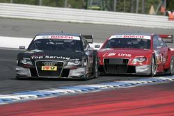 Timo Scheider, Audi Sport Team Abt Audi A4 DTM et Mike Rockenfeller, Audi Sport Team Phoenix Audi A4 DTM