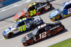 Jeff Gordon, Hendrick Motorsports Chevrolet, Jimmie Johnson, Hendrick Motorsports Chevrolet, Brad Ke