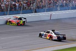 Crash: Jeff Gordon, Hendrick Motorsports, Chevrolet; Scott Speed, Red Bull Racing Team, Toyota