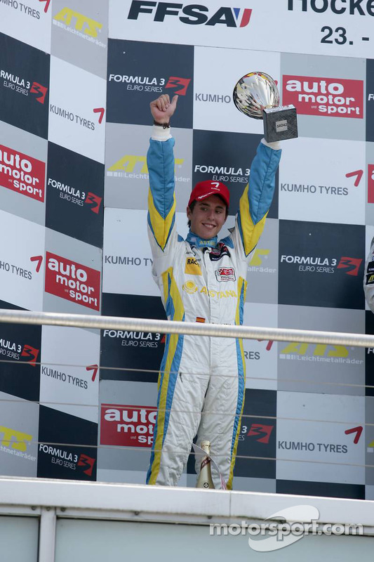 Podium 2de Daniel Juncadella, Prema Powerteam, Dallara F308 Mercedes
