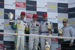 Podium 2nd Daniel Juncadella, Prema Powerteam, Dallara F308 Mercedes, 1st Roberto Merhi, Mücke Motorsport, Dallara F308 Mercedes, 3rd Edoardo Mortara, Signature, Dallara F308 Volkswagen and Peter Muecke Muecke Motorsport