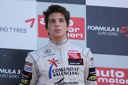 Podium: winner Roberto Merhi, Mücke Motorsport, Dallara F308 Mercedes