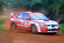 Rifat Sungkar en Scott Beckwith, Pertamina Rally Team