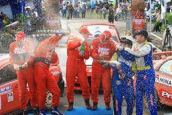 Célébration au champagne