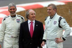 Damon Hill, BRDC Başkanı, ve Jackie Stewart ve HRH Prens Andrew, Duke, York