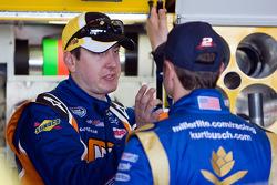 Kyle Busch, Joe Gibbs Racing Toyota and Kurt Busch, Penske Racing Dodge