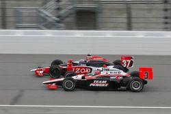 Ryan Hunter-Reay, Andretti Autosport en Helio Castroneves, Team Penske