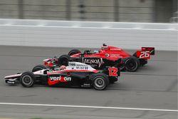 Marco Andretti, Andretti Autosport, rent met Will Power, Team Penske