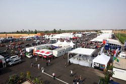 The Formula Two paddock