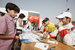 The Formula Two drivers autograph session
