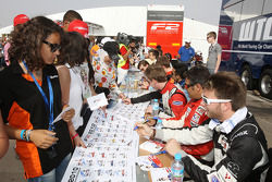 The FormulaTwo drivers autograph session