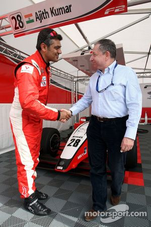 Ajith Kumar rencontre Jean Todt President de la FIA