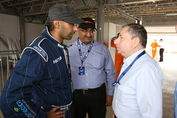 Jean Todt, FIA President, right