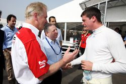 Jonathan Palmer CEO MotorSport Vision, introduces Jean Todt, FIA President, to Dean Stoneman