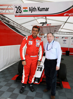 Jean Todt, President de la FIA, avec Ajith Kumar