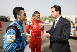 Armaan Ebrahim et Ajith Kumar meet Jacques Raynaud Eurosport Director