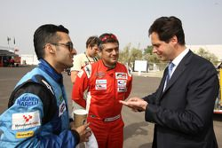 Armaan Ebrahim et Ajith Kumar meet Jacques Raynaud Eurosport Director