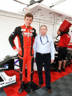 Jean Todt, President de la FIA, avec Kazim Vasiliauskas