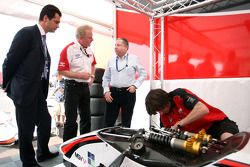 Jacques Raynaud Eurosport Director; Jonathan Palmer CEO MotorSport Vision; Jean Todt
