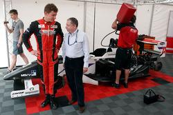 Jean Todt, FIA President, with Kazim Vasiliauskas