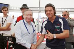 Jean Todt, President de la FIA, avec Kelvin Snoeks