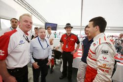Jonathan Palmer CEO MotorSport Vision, introduces Jean Todt, FIA President, to the drivers