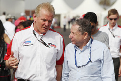 Jonathan Palmer, CEO MotorSport Vision, with Jean Todt, FIA President