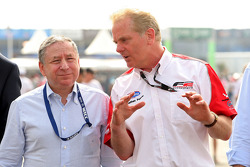 Jonathan Palmer CEO MotorSport Vision, and Jean Todt, FIA President