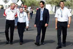 Jacques Raynaud, Eurosport Director; Jonathan Palmer CEO MotorSport Vision, and Jean Todt, FIA President