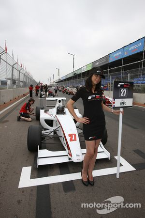 Paul Rees and grid girl
