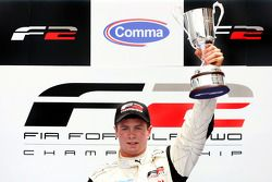 Race 1 winner Dean Stoneman, on the podium