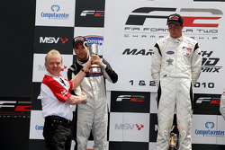 Race 1 podium and results: 1st Dean Stoneman, right 2nd Philipp Eng, left