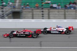 Justin Wilson, Dreyer en Reinbold Racing, leidt voor Dan Wheldon, Panther Racing