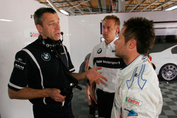Bart Mampaey, Team Principal, BMW Team RBM and Andy Priaulx, BMW Team RBM, BMW 320si