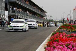 Augusto Farfus, BMW Team RBM, BMW 320si and Andy Priaulx, BMW Team RBM, BMW 320si