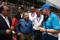Jean Todt, FIA president and Marcello Lotti, General Manager of KSO and Eric Neve, Chevrolet Europe
