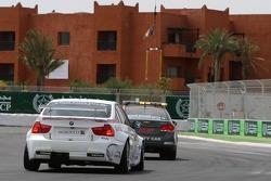 Andy Priaulx, BMW Team RBM, BMW 320si behind the safety car