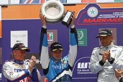 Franz Engstler, Liqui Moly Team Engstler, BMW 320si, Robert Huff, Chevrolet, Chevrolet Cruze LT et Gabriele Tarquini, SR - Sport, Seat Leon 2.0 TDI